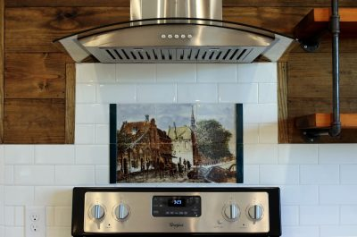 Oven with Art Tile - Coates Lovett Coates