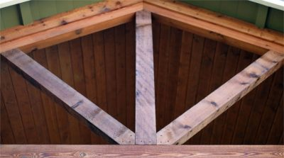 Custom Support Beams Exterior - Coates, Lovett, Coates